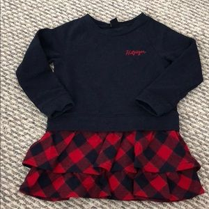Tommy Hilfiger plaid navy red dress